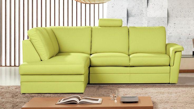 Zestaw wypoczynkowy w kolorze limonki z regulowanym oparciem, posiadający funkcję spania.
