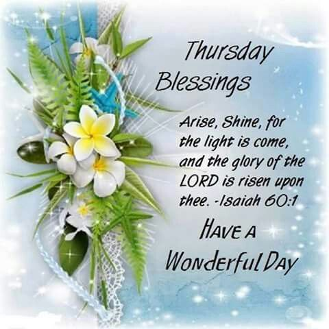 ODAY'S PRAYER THANKFUL THURSDAY Father God in the Name of ...  |Thursday Prayers From The Heart