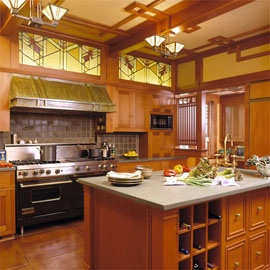203 best hanging stained glass panels images on pinterest for Prairie style kitchen design