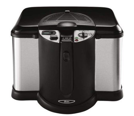 $49.96 Oster CKSTDFZM70 4-Liter Cool Touch Deep Fryer, Black and Stainless Steel. See More Cooking Deep Fryers at http://www.zbuys.com/level.php?node=3888=cooking-deep-fryers