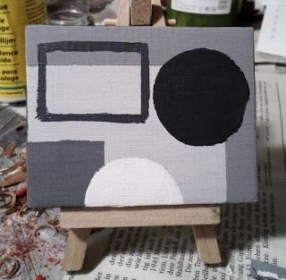 Only 6 - painting in grey