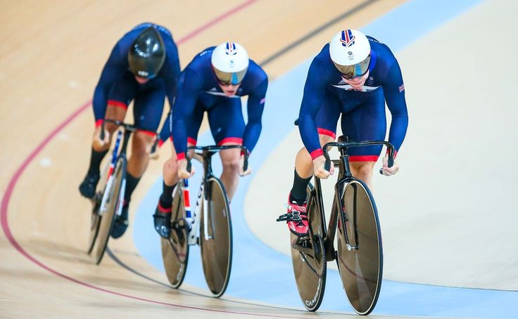 Philip Hindes, Jason Kenny and Callum Skinner won Team GB's first track cycling gold medal of the Rio 2016 Olympic Games in the team sprint. (pic: Alex Whitehead/SWpix.com)