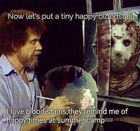 Bob Ross dark humor