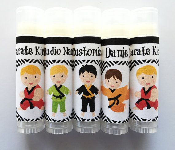 5 Pc Karate Party Favors/Boy Karate Party Favors/Party Favors/Boy Birthday Party/Lip balm/Karate Chapstick Party Favor/Karate Gift Bags