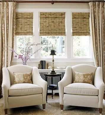 New ideas living room design with texture of bamboo shades nooks and crannys pinterest new for Bamboo shades in living room