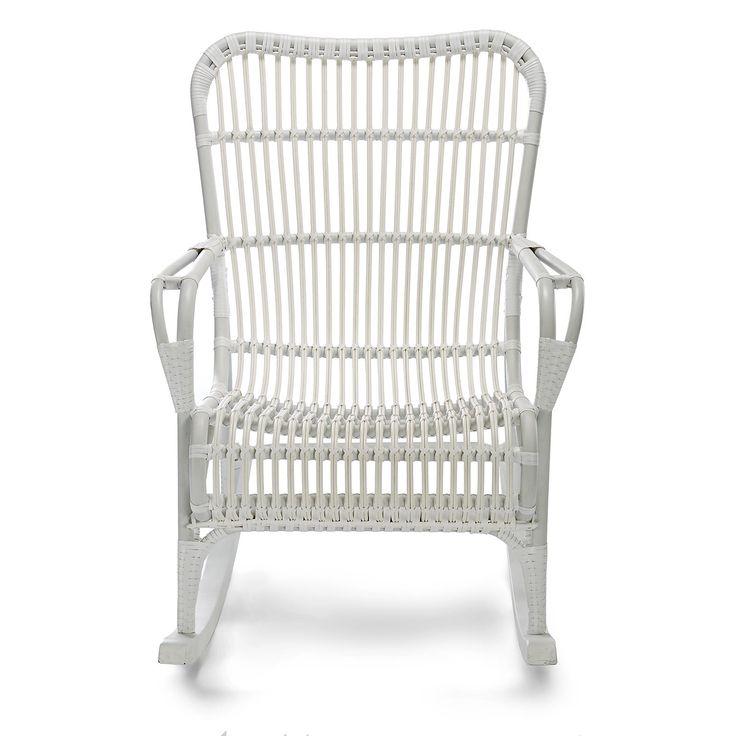 Schaukelstuhl Aluminium/Polyrattan Weiß Ca L:97 X B:65 X H:
