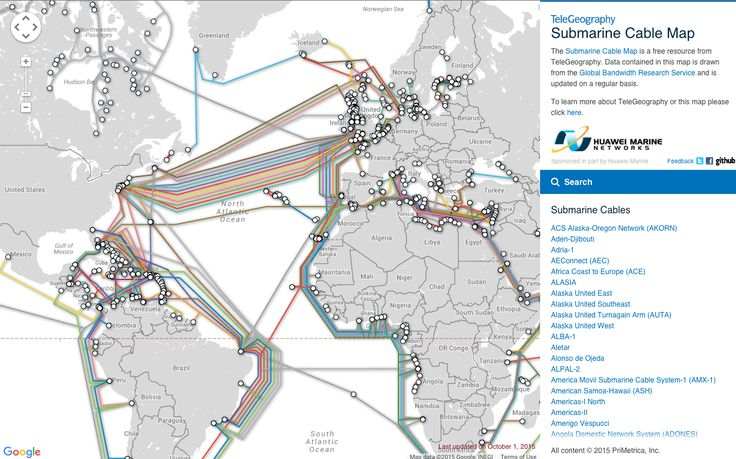 Submarine Cable Map  Shows all underwater cables and who owns them. Follow @producthuntlive