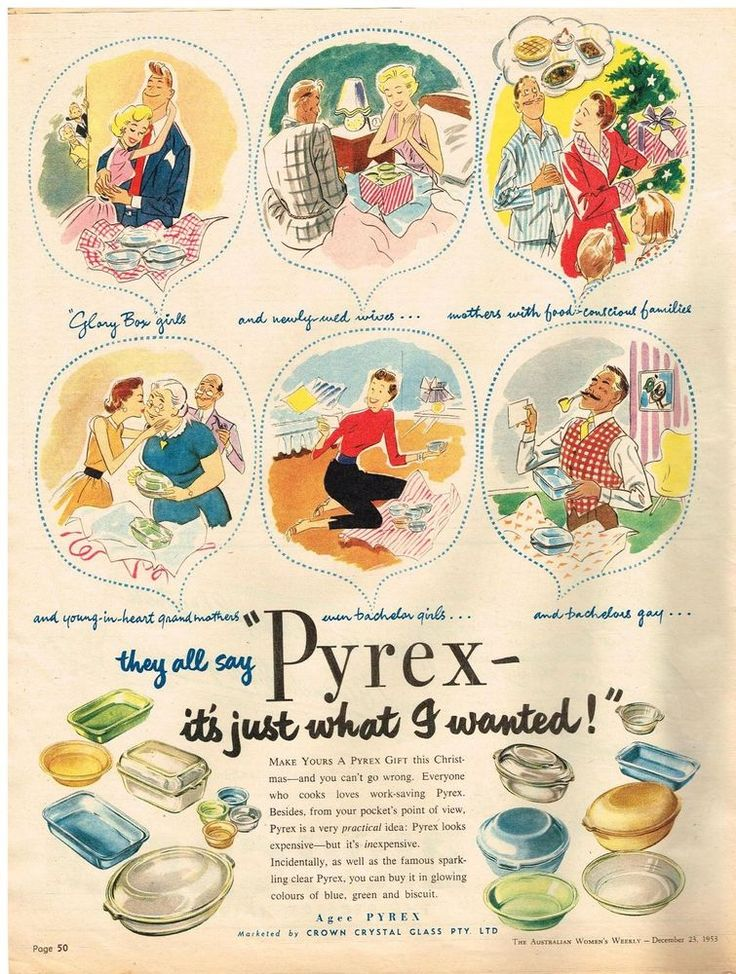 AUSTRALIAN Vintage Advertising AGEE PYREX AD  KITCHENALIA 1950 s Original Advert