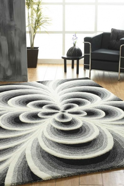 Frangipani rug RRP $999  100% Wool  Hand tufted, plush pile with carved, raised detailing