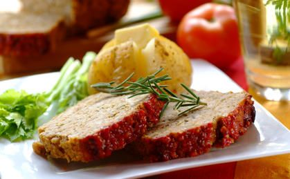 Chicken Meat Loaf with a Tomato Topping Recipe