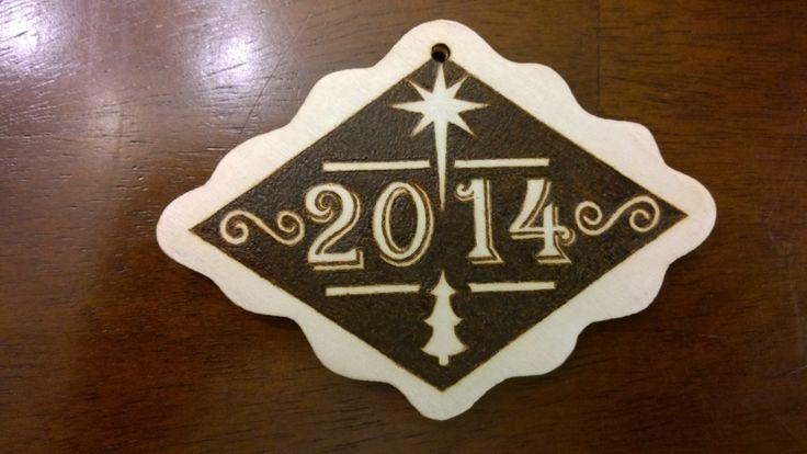 Christmas Ornament Side 1 - Pyrography by E.Klassen