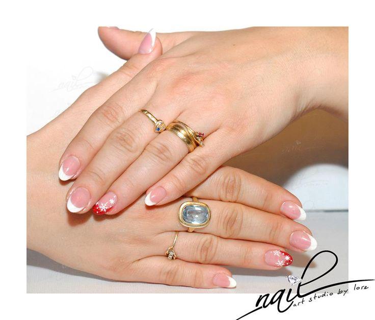 nails nail art french design
