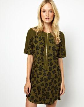 Bild 1 von Whisles – Kleid mit großem Leopardendruck