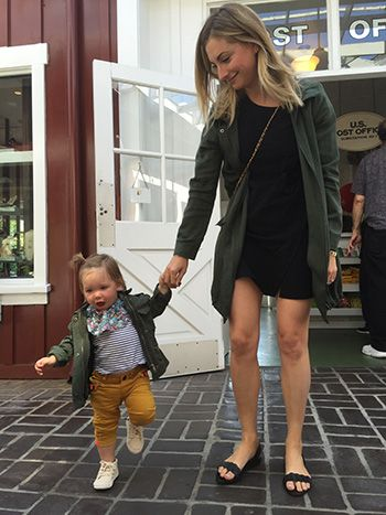 Emily Schuman of Cupcakes & Cashmere with her daughter