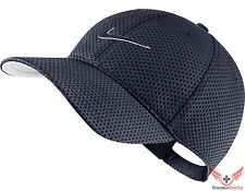 New Mens Nike Heritage Dri-Fit Mesh Adjustable Hat Obsidian Blue/Black