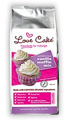 Love Cake Organic Vanilla Muffin Mix - popular option for cupcakes and a great base for adding your favourite flavours to - blueberries, banana, chocolate chips... {Dairy free, gluten free, soy free, nut free, plus egg free baking option}