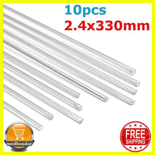 10Pcs 2.4mmx330mm Aluminum Alloy Silver TIG Filler Rods ...
