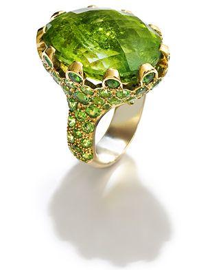 Fochtmann Rose Gold Tourmaline tsavorite Ring