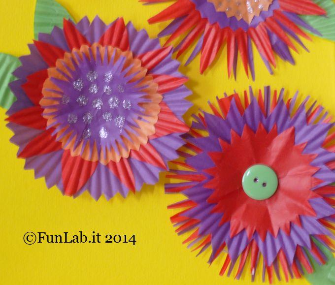 cupcakeflowers - fiori di carta fai da te - percorso language through art