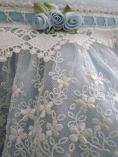 Lace over tulle would make a beautiful table cover