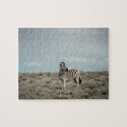 Plains Zebra   Equus burchellii Jigsaw Puzzle - plain gifts style diy cyo