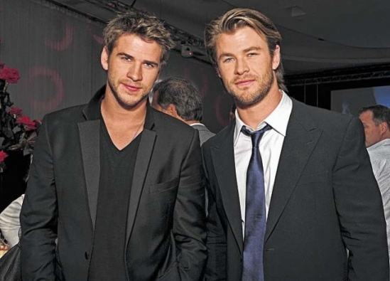 Liam and Chris Hemsworth.