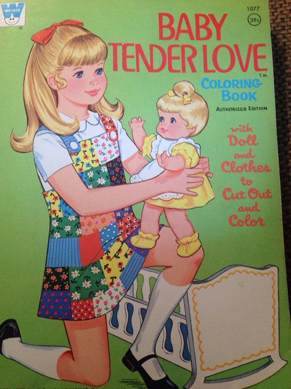 70s Baby Tender Love Vintage Coloring Books Vintage