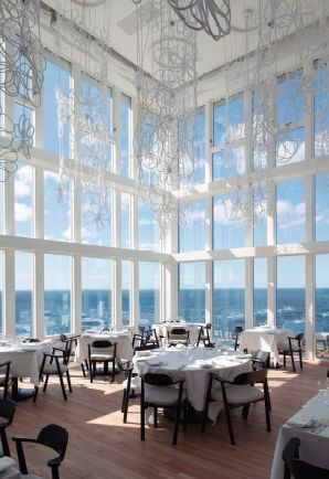 Fogo Island Inn located in the Northeast Coast of Newfoundland amazing view from the dinner! #hotel #northeast #Mixte14 #MixteMagazine #view #dinner