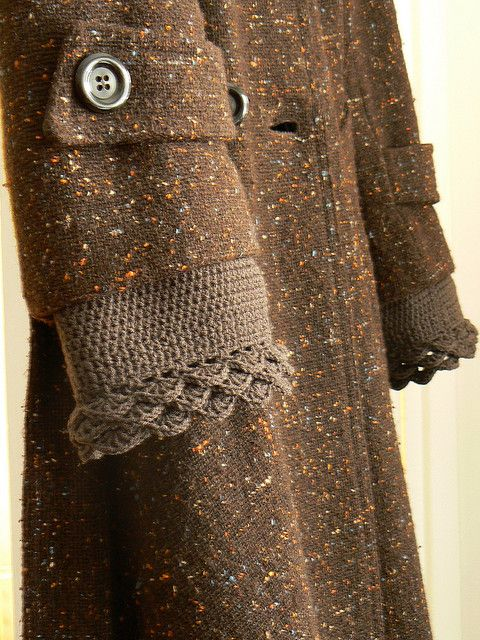INSPIRATION! ~ Lengthen a sleeve with crochet (or portion of another sleeve...)