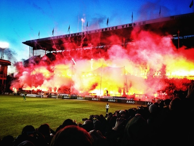North stand, Råsunda. AIK.