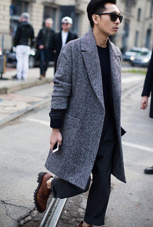 Street looks à la Fashion Week homme automne-hiver 2015-2016 de Milan, Jour 4.