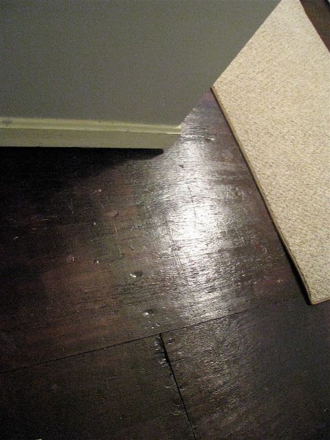 Paint wood floors - RustOleum Kona Brown. 2 coats plus 3 coats of poly.