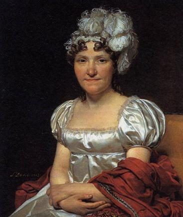 David, Jacques-Louis  Portrait of Marquerite-Charlotte David  1813  하이웨스트라인과 길고 날씬하게 뻗은 실루엣을 특징으로 하는 엠파이어 스타일의 의상은 낭만적이고 로맨틱한 분위기를 준다. 가슴이 많이 파인 네크라인으로 여성의 미를 부각시키고, 소매는 퍼프소매로 동그란 모양으로 주름을 잡아 귀여운 이미지 역시 느낄 수 있다. 몸이 아름다운 라인을 살려주는 시수르 슈미즈드레스, 즉 속이 다 비치는 드레스가 유행했다. 의상에 맞춰 머리를 장식하기도 했는데, 밴드나 리본을 이용했으며, 엠파이어스타일의 의상은 화려함보다 청순하고 낭만적인 이미지를 준다.