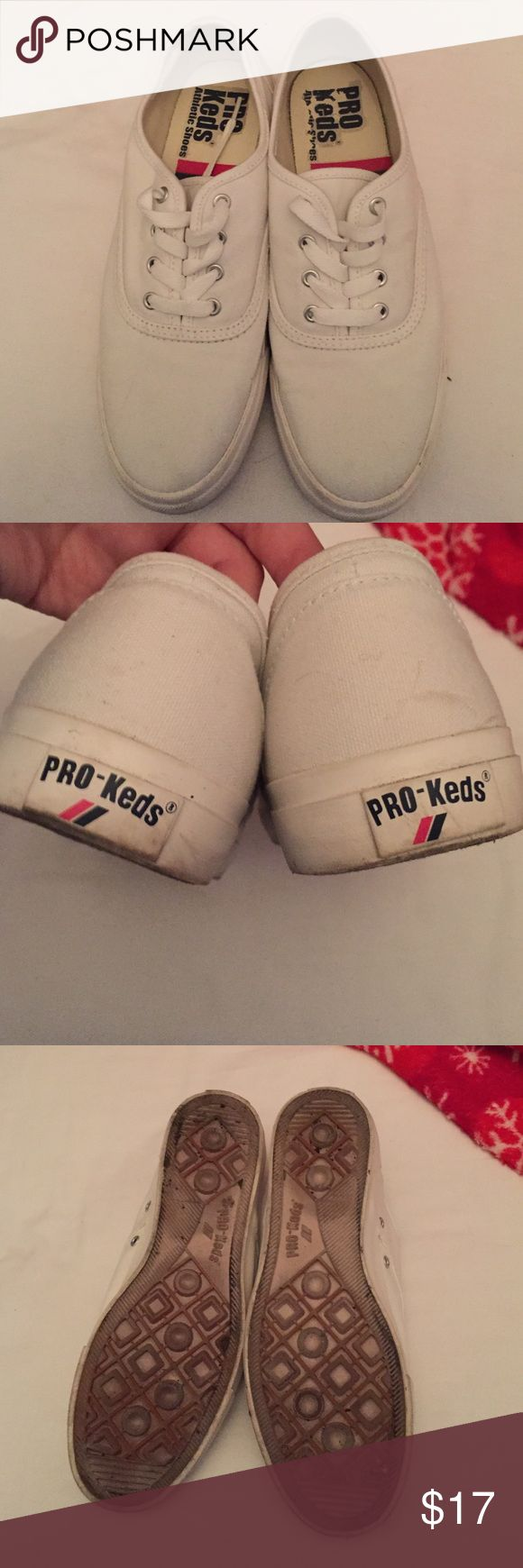 White Pro Keds Shoes Like new all white Keds. Only been worn a few times. Great staple piece. Keds Shoes Sneakers