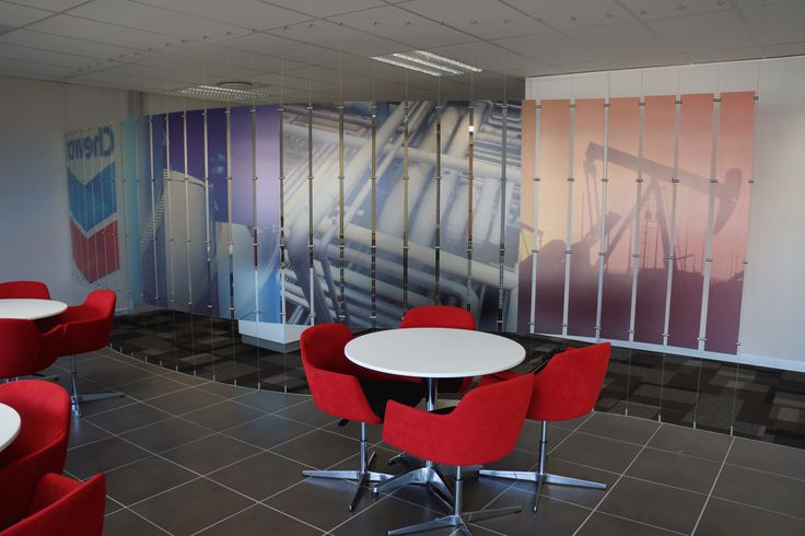 Chevron office interior, office space, office design.