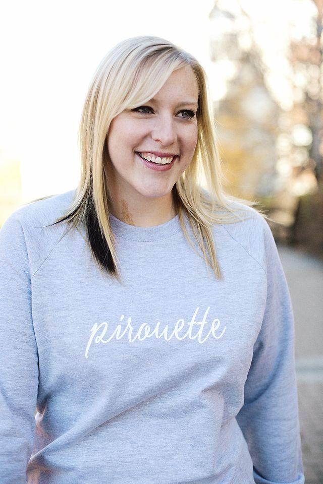 Pirouette Crewneck Sweatshirt by dancelove. #dancerapparel #dancelove #pirouette