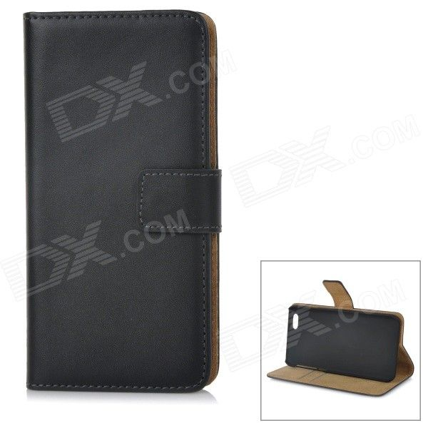 WB-0916 Protective Leather Flip-Open Case w/ Card Slot / Stand for IPHONE 6 4.7 - Black