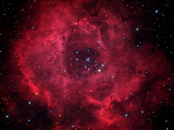 La Nébuleuse de Rosette. Astronomy is so scientifical and so beautiful at the same time