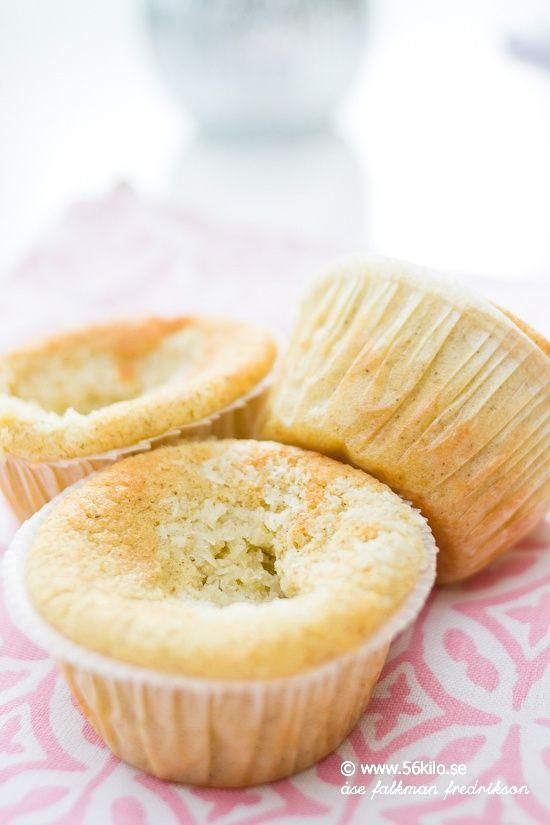 LCHF-muffins med kokosfyllning