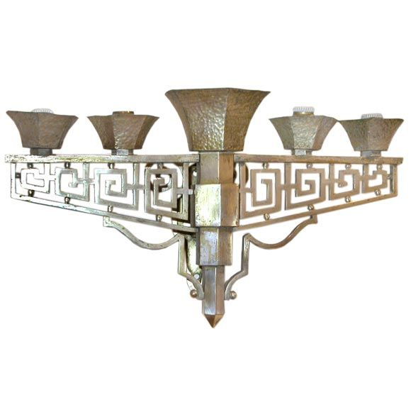 A Pair of Art Deco Wall Lights | From a unique collection of antique and modern wall lights and sconces at http://www.1stdibs.com/furniture/lighting/sconces-wall-lights/