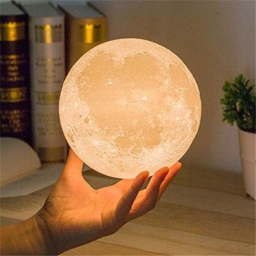 DecBest 15cm 3D Magical Two Tone Moon Lamp USB Charging Luna LED Night Light Touch Sensor Gift is Multicolor-NewChic Mobile