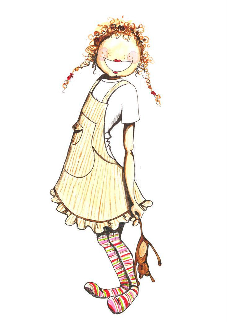 Little girl, watercolor ©lisablom