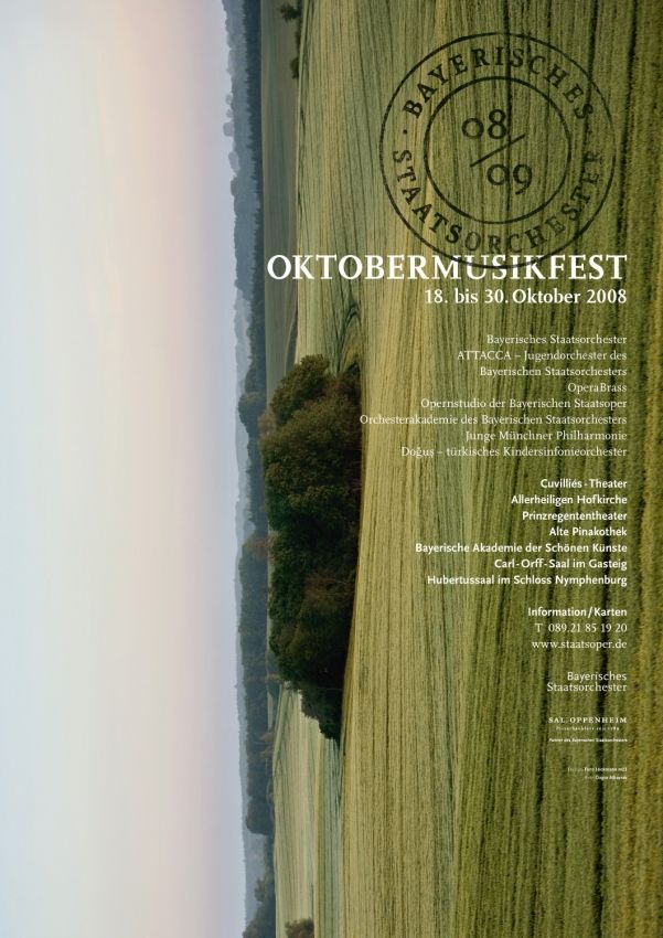 Fons Hickmann M23 - Bayerisches Staatsorchester - 2008, 2009, Bayerische Staatsoper, Music, Musik, Plakate, Poster, Sony
