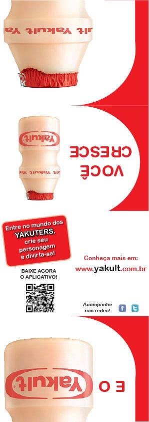 Panfleto Yakult - Parte exterior - Projeto Hipermídia