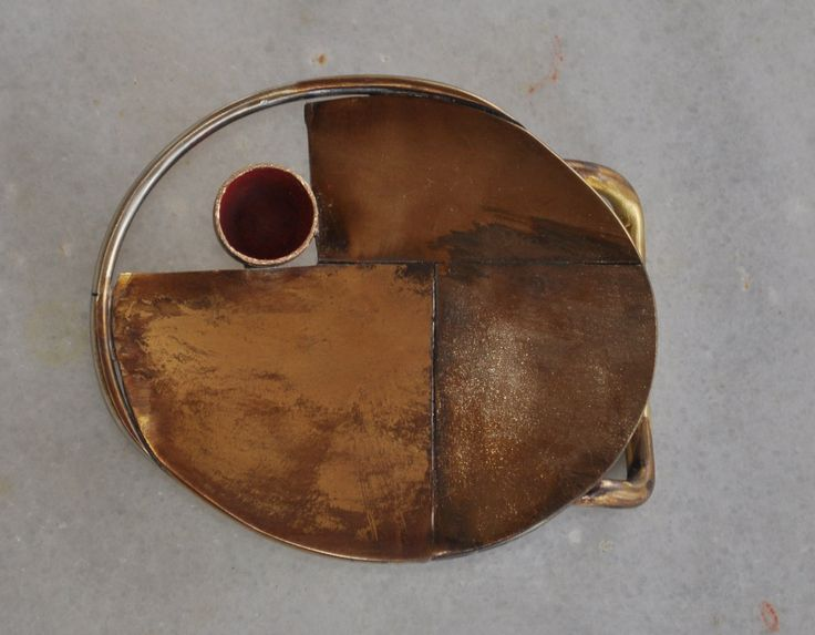"Handmade belt buckle in brass, copper and alpaca ""metales casades"" by TakisBrass on Etsy"