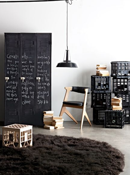 Craft Storage Ideas: Cottage Market Post on Upcycling School Furniture (image)