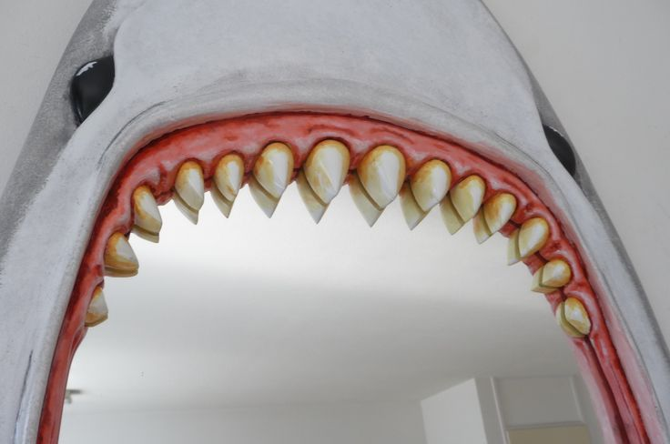 Very Unique SHARK ATTACK mirror - wana bite..?