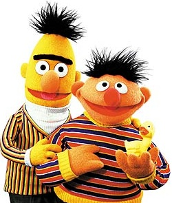 Bert and Ernie, Sesame Street (okay, okay, they're technically puppets)