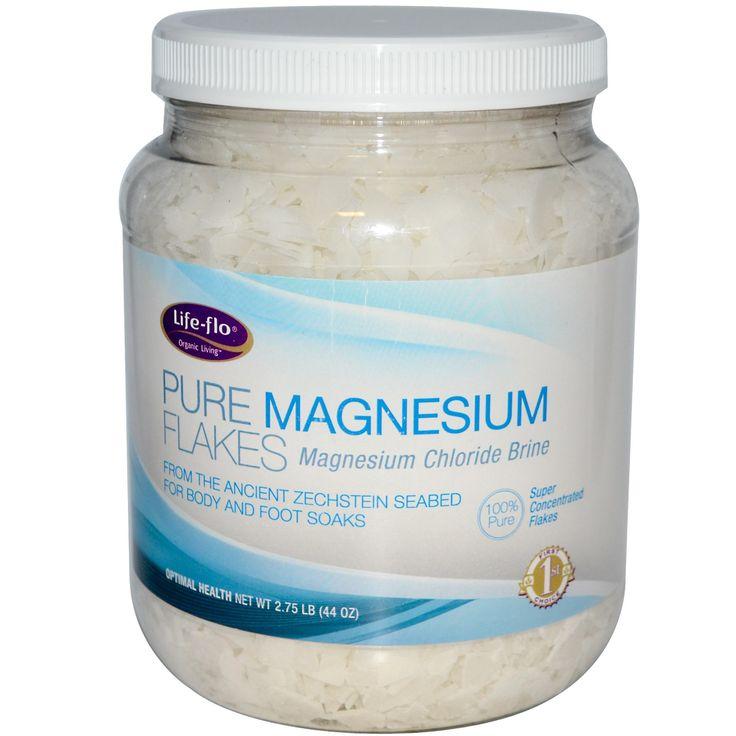 Life Flo Health, Pure Magnesium Flakes, Magnesium Chloride Brine, 2.75 lb (44 oz)