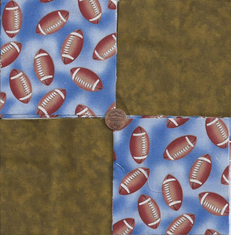 Football in the Dirt 4 inch 100% Cotton Novely Fabric  Squares FS2 #VariousManufacturers